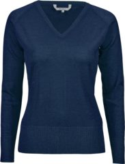 Blauwe Func Factory dames trui Merino wol maat 42 indigo blauw
