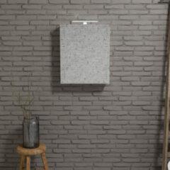Zaro Beam Spiegelkast 60x70x16cm wit marmer 1 deur