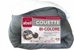ABEIL Tweekleurig dekbed - 240 x 260 cm - Wit en grijs