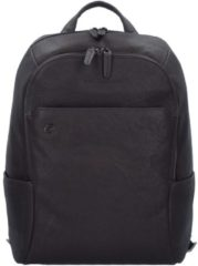 Black Square Business Rucksack Leder 39 cm Laptopfach Piquadro dunkelbraun