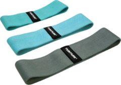 Turquoise Tunturi Weerstandsbanden set textiel - resistance band set - 3 st