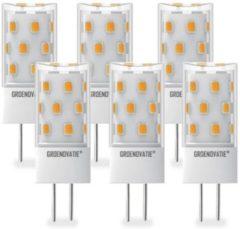 Groenovatie LED Lamp G4 Fitting - 5W - 49x18 mm - Dimbaar - 6-Pack - Warm Wit