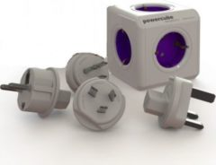 Allocacoc PowerCube ReWirable Travel Plugs, Reiseadapter & 5x Verteiler, 230V Schuko