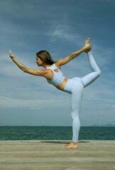 Lively collection Fitness Yoga wear kleding set 2 stuks Katoen- baby blauw- small