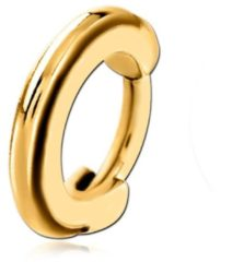Goudkleurige Lucardi Piercings - Stalen helixpiercing goldplated ring clicker
