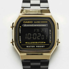 Zwarte Horloge A168WEGB-1BEF no color
