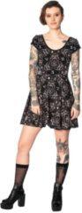Banned Korte jurk -S- TEEN GOTH CAT Zwart