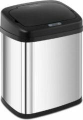Zilveren Fromm & Starck Prullenbak met sensor - 20 L - rechthoekig