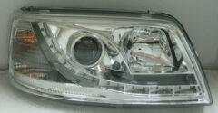 AutoStyle Set Koplampen DRL-Look passend voor Volkswagen T5 2003-2010 - Chroom