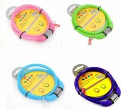 Stahlex Ø10mm / 65cm kabelslot schlechts 110g met 4-stellig cijferslot | Het eerste fietsslot voor uw kind | Blauw