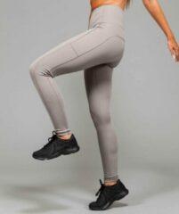 Marrald High Waist Pocket Sportlegging | Licht Grijs - S dames yoga fitness