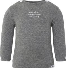 Antraciet-grijze Noppies Shirt Puck - Anthracite Melange - Maat 68