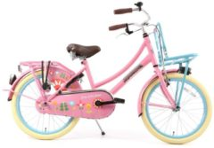 Rosa 22 Zoll Popal Daily Dutch Basic TR22 Mädchen Holland Fahrrad Popal blume-pink
