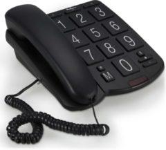 Zwarte Profoon TX-575 Huistelefoon met grote toetsen - Met bellampje, je ziet dat er gebeld wordt