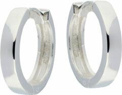 Best Basics Zilveren 107.0073.16 Oorringen met vierkante buis 3 mm