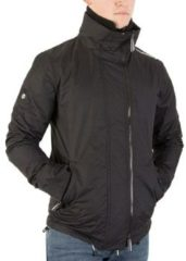 Superdry Windjacken Herren Technische Pop Zip Windjacke, Schwarz