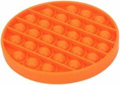 KJG Pop It Fidget - Pop Bubble - Rond - Oranje