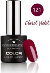 Paarse Cosmetics Zone UV/LED Hybrid Gel Nagellak 7ml. Claret Violet 121