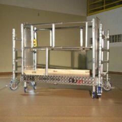 Grijze Steiger & Ladderspecialist Rolsteiger hoogwerker de Alulift werkhoogte 900 cm.- De Solarlift bij uitstek! 250 kg belastbaar.