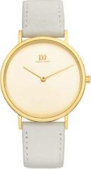 Gouden Danish Design watches edelstalen dameshorloge Marilyn Gold Champagne Grey IV10Q1247