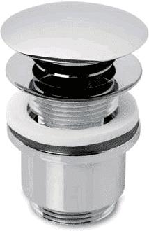 Afbeelding van Plieger Design pop up afvoerplug vlak met overloop 5/4 chroom 4058026