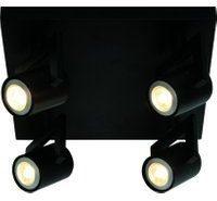 Freelight Valvola 4 lichts led spot zwart vierkant