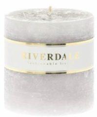 Riverdale NL Kaars Pillar grijs 9x9cm