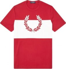 Rode Fred Perry Shirt Printed Laurel Wreath Tshirt