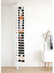 Witte Wijnpaal Classic - Staand houten flessenrek voor 20 wijnflessen met een uniek en modern design