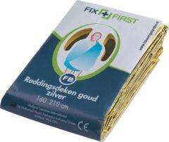 FixFirst Reddingsdeken folie 160x210cm zilver/goud