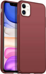 Donkerrode Merkloos / Sans marque Back Case Cover iPhone 11 Hoesje Burgundy