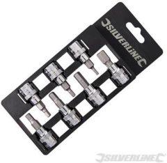 """""""Silverline 7-delige inbus bit set met 3/8"""""""" aandrijving Inbus 3 - 10 mm"""""""