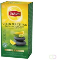 Thee Lipton groen Tea citrus met envelop 25stuks