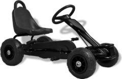 VidaXL Skelter met pedalen en pneumatische banden zwart