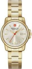Gouden Swiss Military Hanowa - Swiss Made - dameshorloge Swiss Recruit Lady II 06-7230.7.02.002