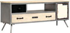 VidaXL Tv-meubel 120x30x45 cm massief mangohout en staal VDXL 246282