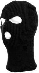 Merkloos / Sans marque Driegaats muts / skimuts - zwart - one size - outdoor / bivak / wintersport - warme eengaats balaclava