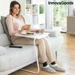 Witte InnovaGoods Home MULTI-POSITIE INKLAPBAAR BIJZETTAFELTJE FOLDY TABLE INNOVAGOODS, 18 posities