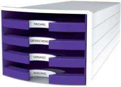 HAN IMPULS 2.0 1013-57 Ladebox Wit DIN A4, DIN C4 Aantal lades: 4
