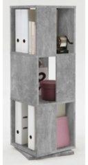 Grijze Leen Bakker Kast draaibaar Tower - betonkleur - 34x108x34 cm