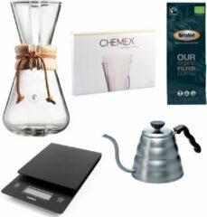 Chemex Coffeemaker slow coffee starter kit 3-Kops