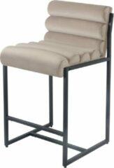 Beige Damiware Barkruk designkruk 65 cm Velvet Tony - Product Kleur: Velvet Taupe