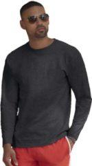 Fruit of the Loom Basic shirt lange mouwen/longsleeve donkergrijs voor heren - Herenkleding donker grijze shirts L (40/52)