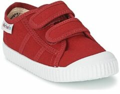 Rode Sneakers Basket lona Dos Velcos by Victoria