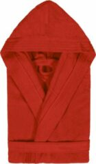 Duplex Cool Badjas met Capuchon Uni Cool Velours Rood col 2307 maat S
