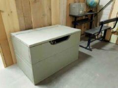 Bruine Wood4you - Speelgoedkist Kick Groen 80Lx50Hx50D cm