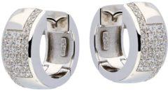 Best Basics Zilveren 107.0279.00 Klapcreolen met zirconia 16 mm