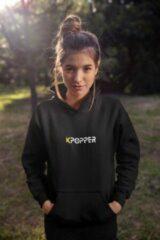 Zwarte Shennit Kpop hoodie | Kpopper | Maat S | Urban style | Korea BTS | Shirt | Boyband | Kleding | Merch | Merchandise Producten Album