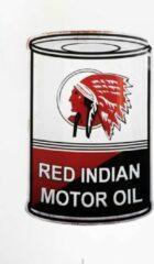Rode Signs-USA Red Indian - gasoline & motor oil - barrel olievat - retro wandbord - 56 x 37 cm