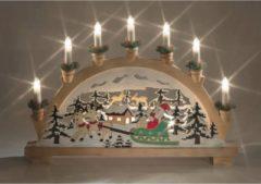 Bruine Kerst Kandelaar - Best Season